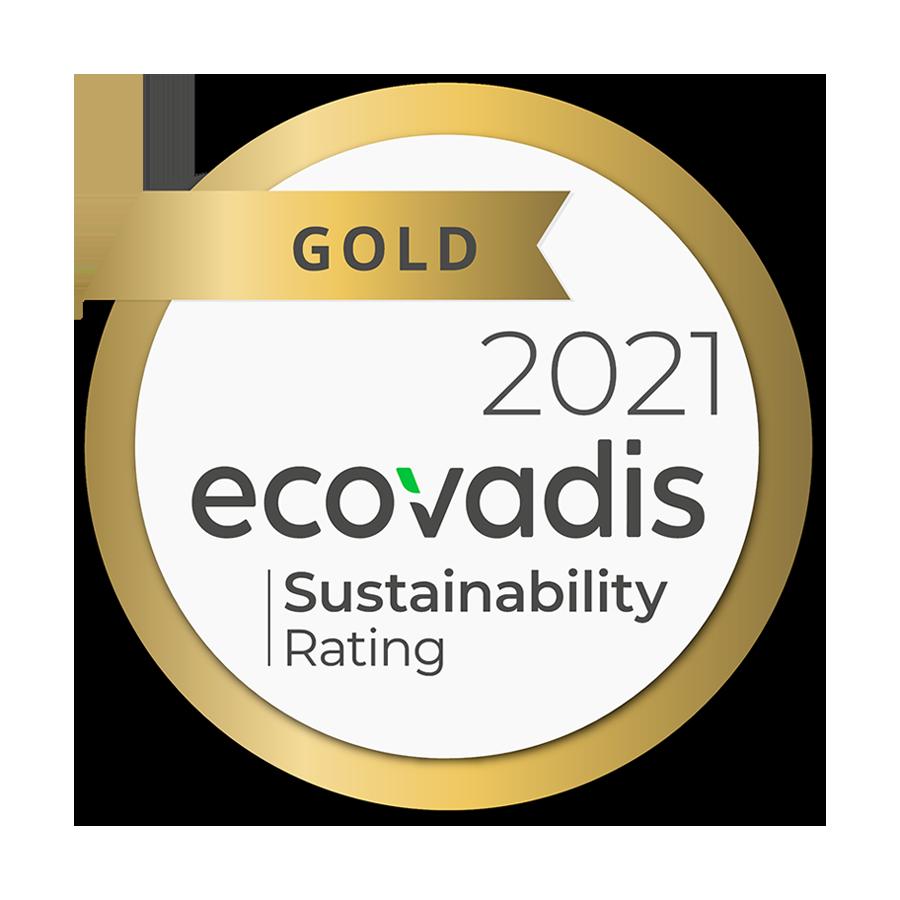ecovadis Gold Zertifizierung 2021