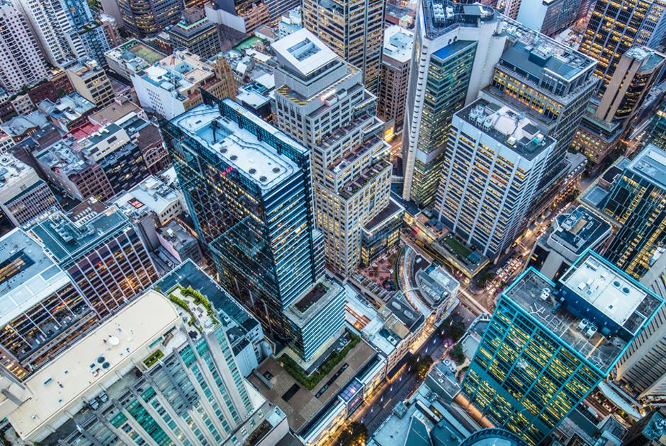 Aerial view of Brisbane