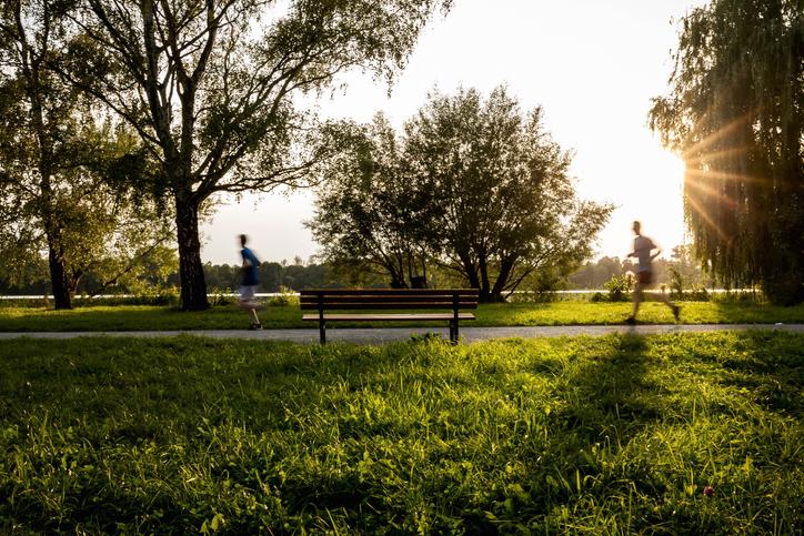 Maschsee Hannover bei Sonnenuntergang