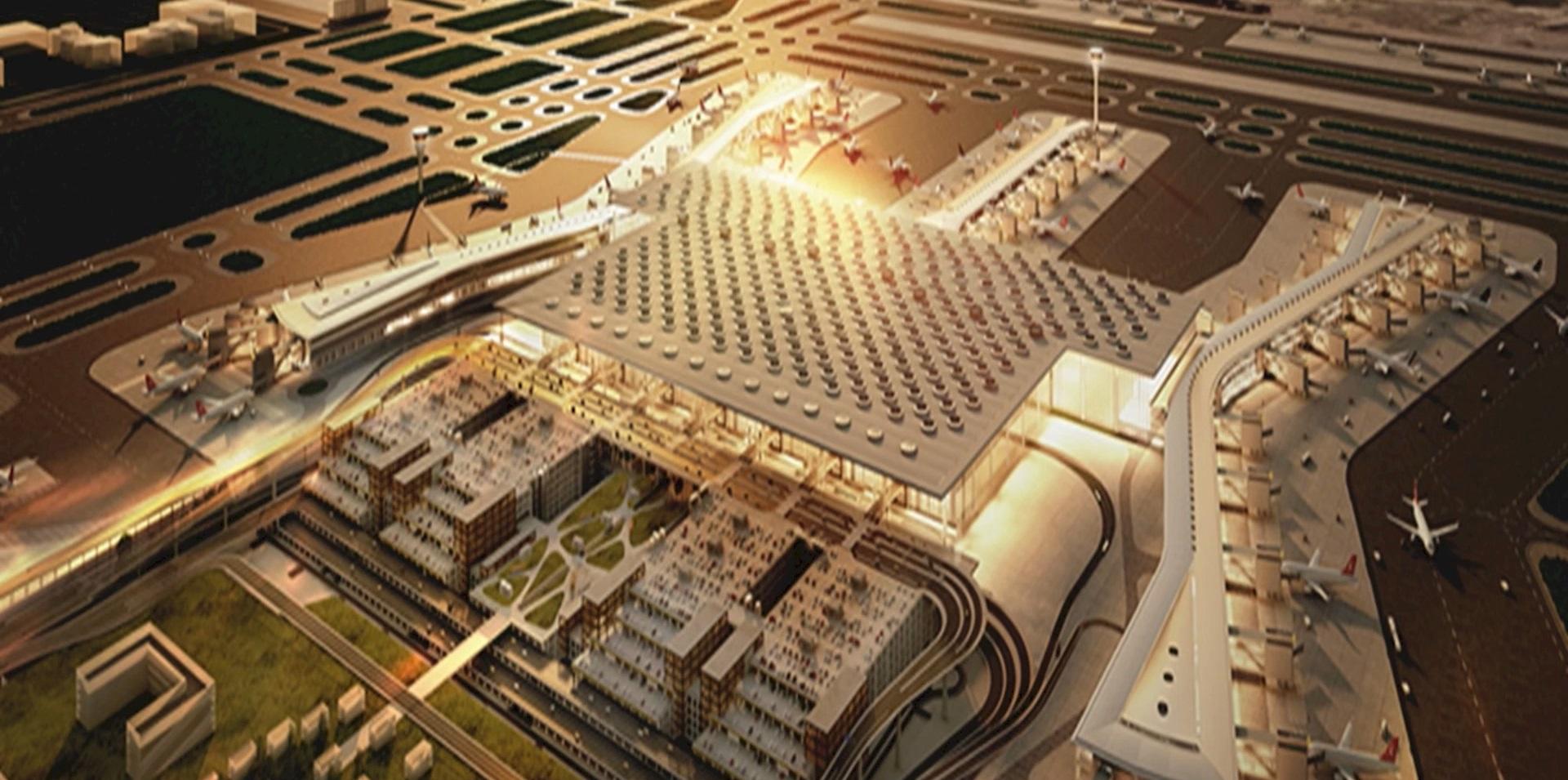 3D-Visualisierung Flughafen Istanbul