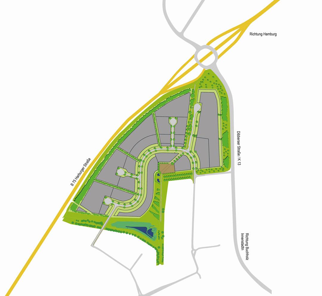 Grundrissvisualisierung TIP Innovationspark Nordheide