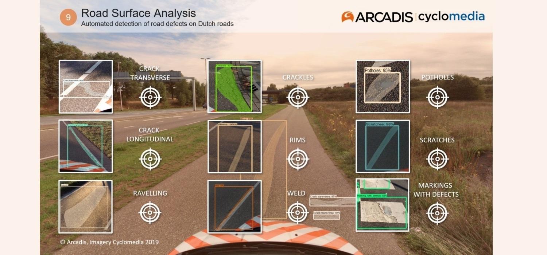 Beeld automatische detectie met defecten aan Nederlandse wegen