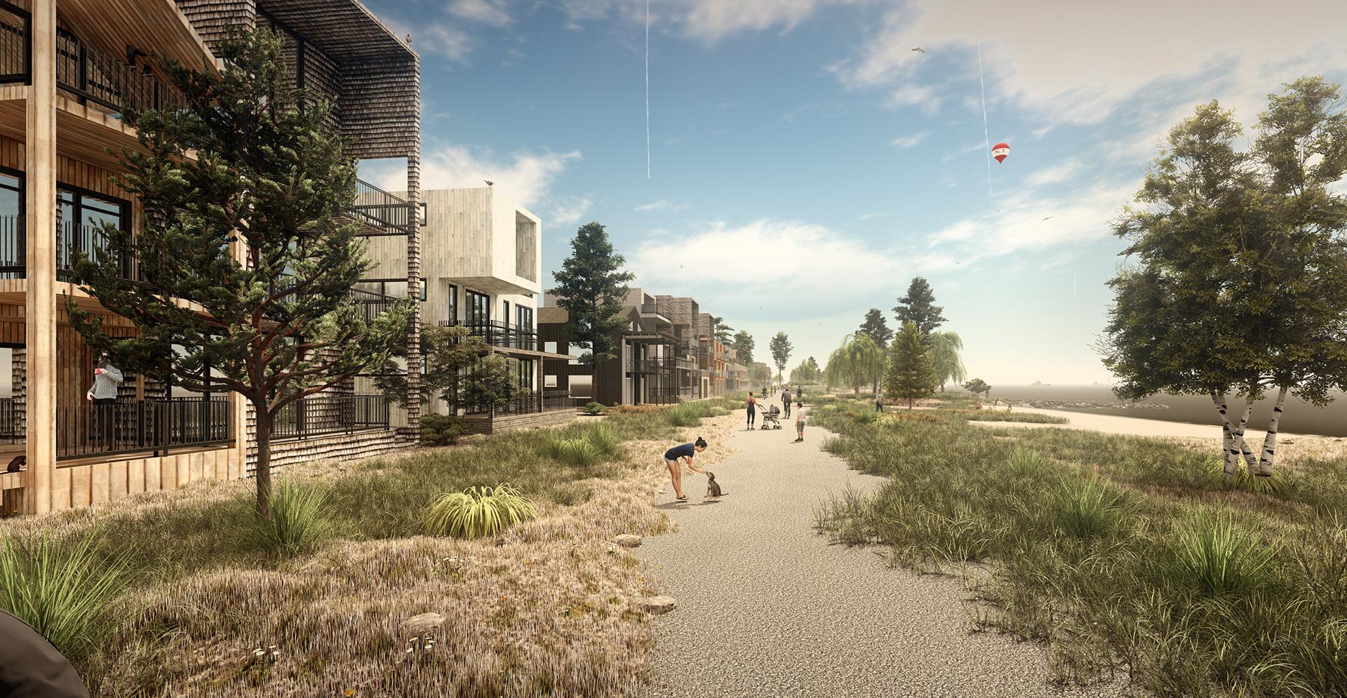 Visualisatie verbeteren mobiliteit in Strandeiland; wandelen op de boulevard