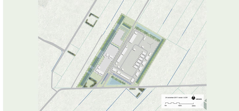 Kaartje plattegrond locatie Hystock Zuidwending