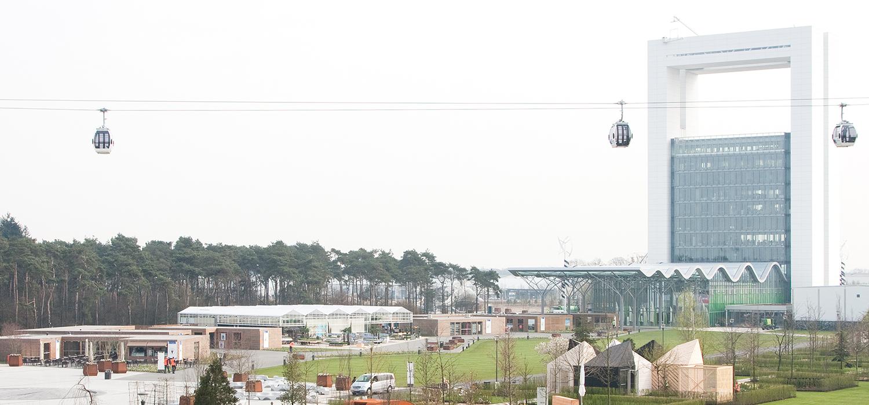 Kabelbaan in gebruik tijdens Floriade 2012 als openbaar vervoersmiddel.