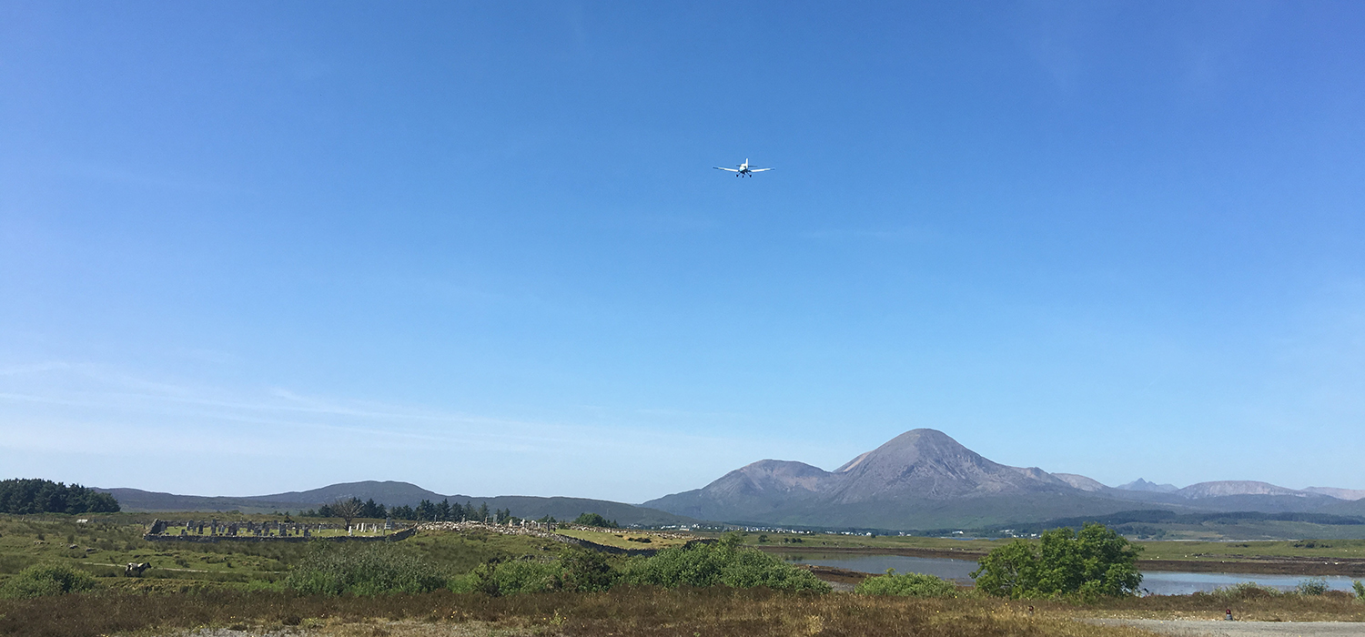 The reintroduction of scheduled flights to the Isle of Skye could provide a major boost to the local