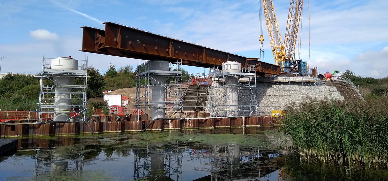 A new 87-metre long bridge will span the Ebbsleet river