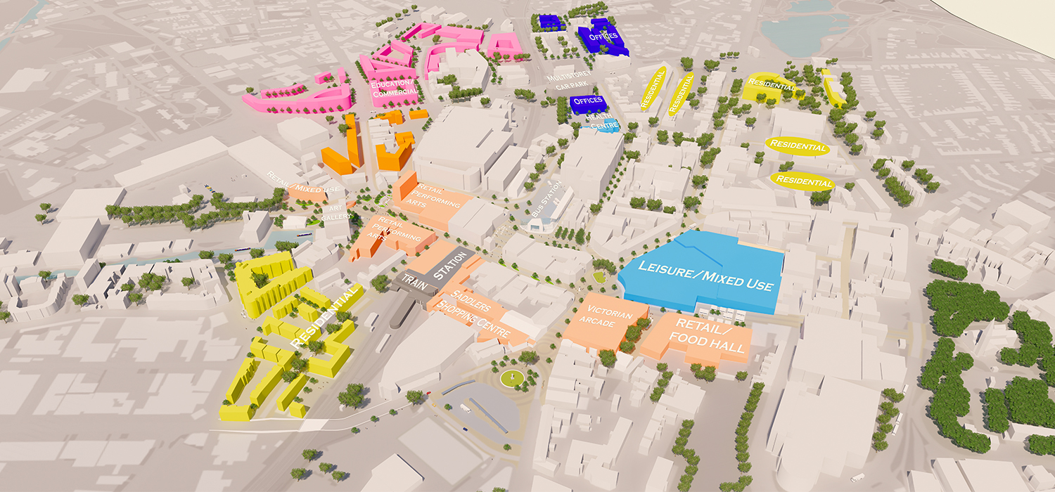 Creating a comprehensive mixeduse regeneration masterplan for Walsall town centre